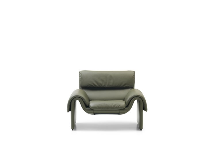 For Sale: Green (Olive) DS-2011 Bauhaus Leather Armchair by De Sede