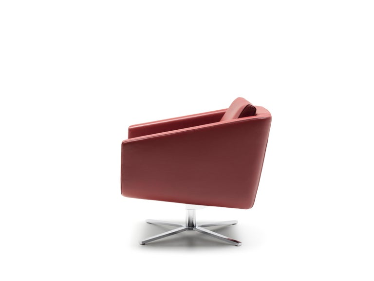 For Sale: Red (Barolo) Pavo Adjustable Leather Armchair by FSM 2