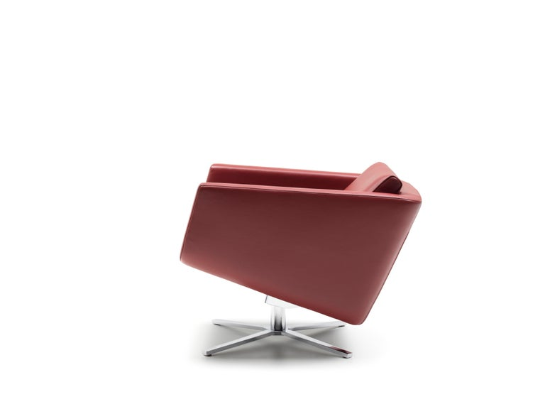 For Sale: Red (Barolo) Pavo Adjustable Leather Armchair by FSM 3