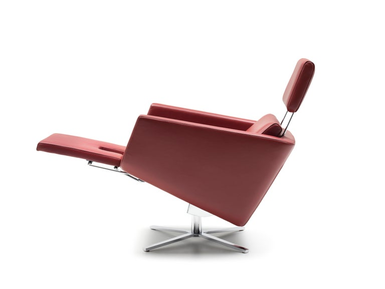 For Sale: Red (Barolo) Pavo Adjustable Leather Armchair by FSM 5