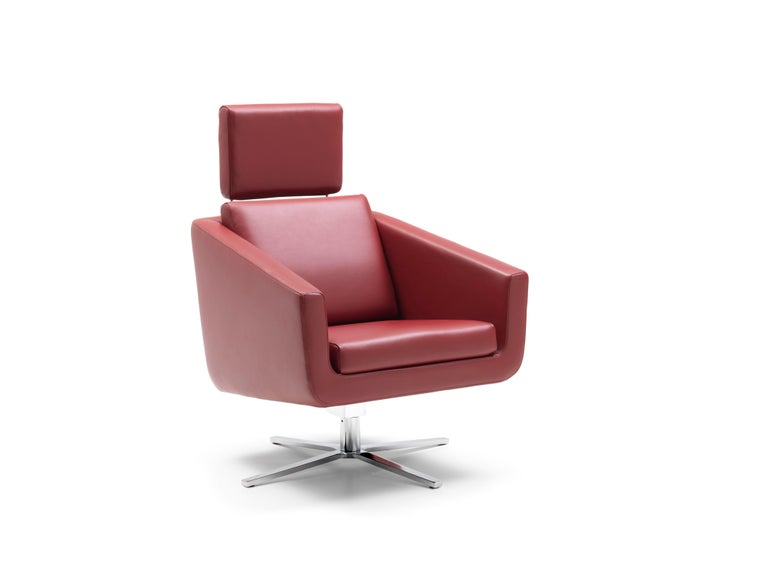For Sale: Red (Barolo) Pavo Adjustable Leather Armchair by FSM 6