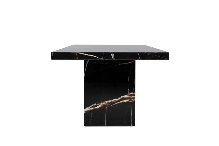 For Sale: Multi (STONE Sahara Noir) DS-788 Customizable Marble, Granite, or Quartz Long Dining Table by De Sede 2