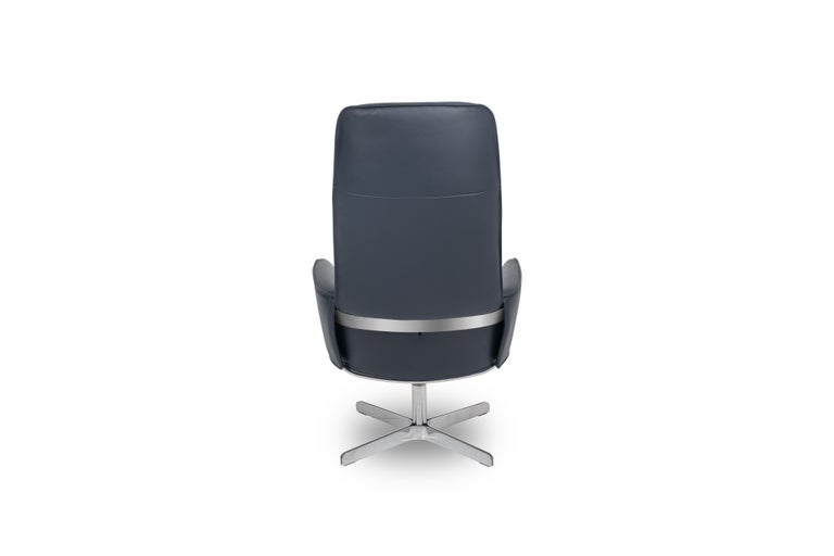 For Sale: Blue (Royal) Rex Posture Support Leather Armchair by FSM 2
