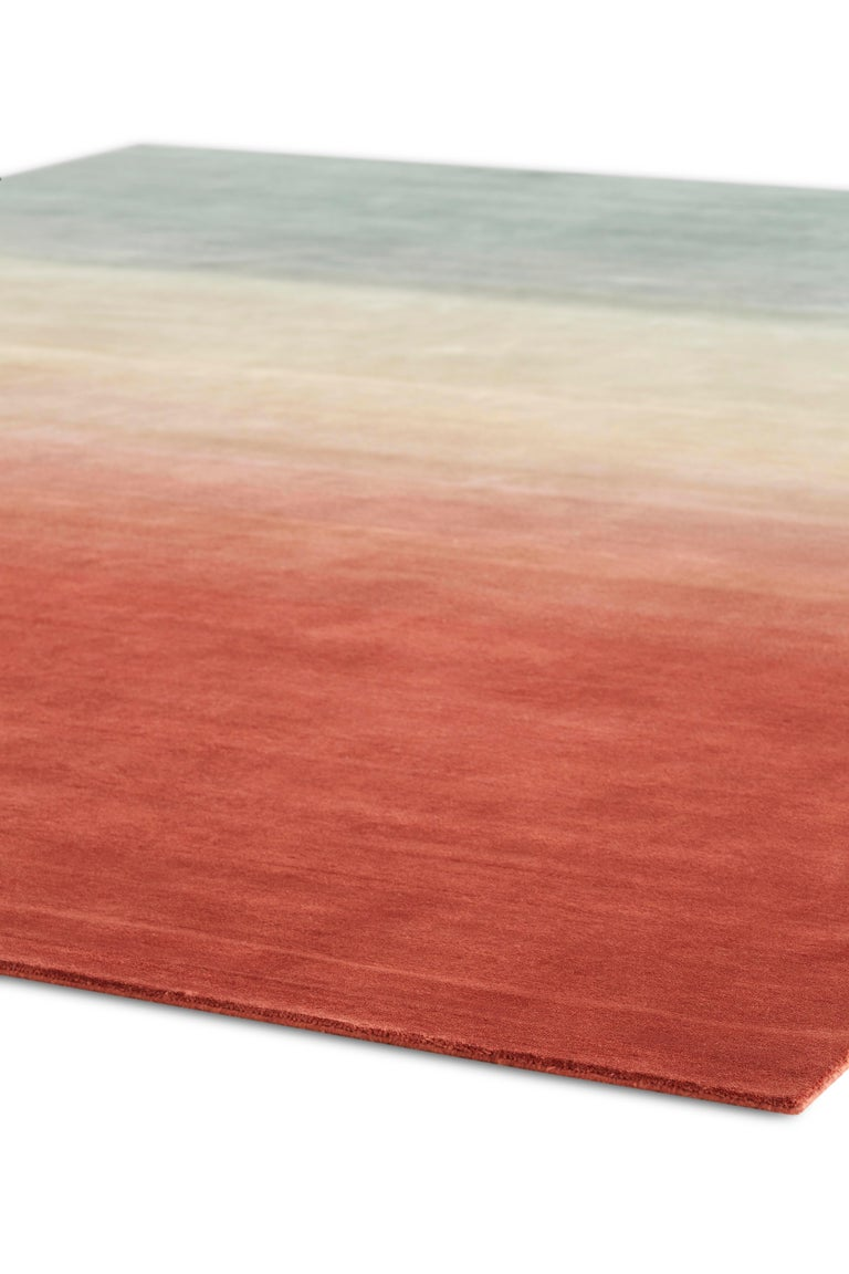 For Sale: Multi (Petrol Wines) GAN Hand Knotted Degrade Medium Rug by Patricia Urquiola 2