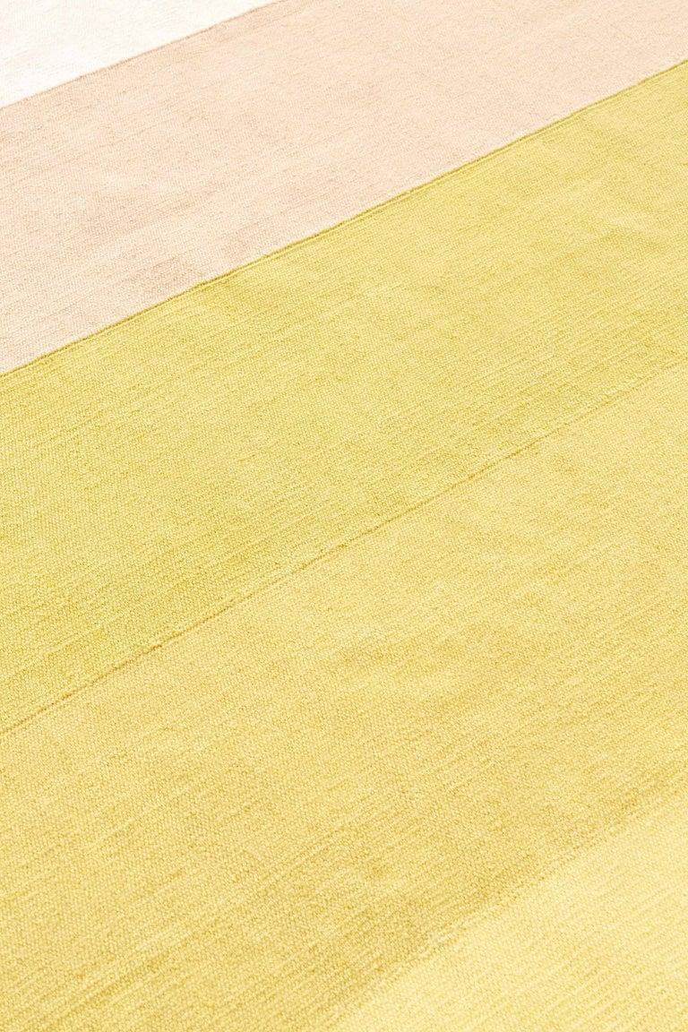 For Sale: Multi (Pink Yellow) GAN Kilim Diamond Small Rug by Charlotte Lancelot 2
