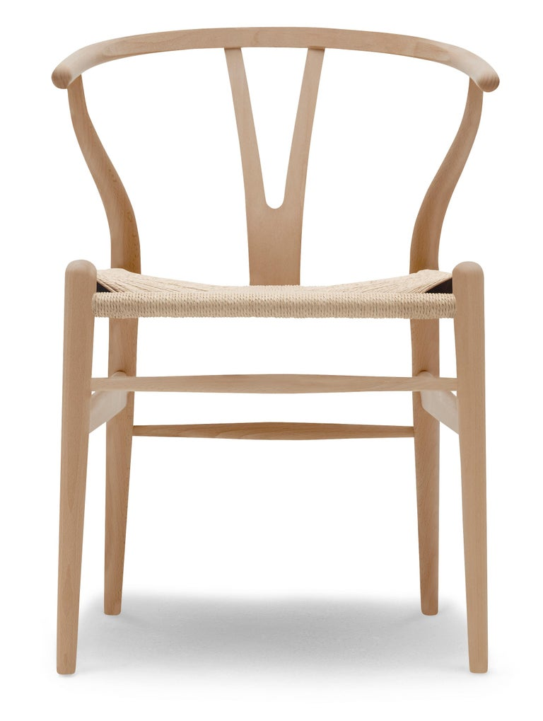 For Sale: Brown (Beech Oil) CH24 Wishbone Chair in Wood Finishes with Natural Papercord Seat by Hans Wegner