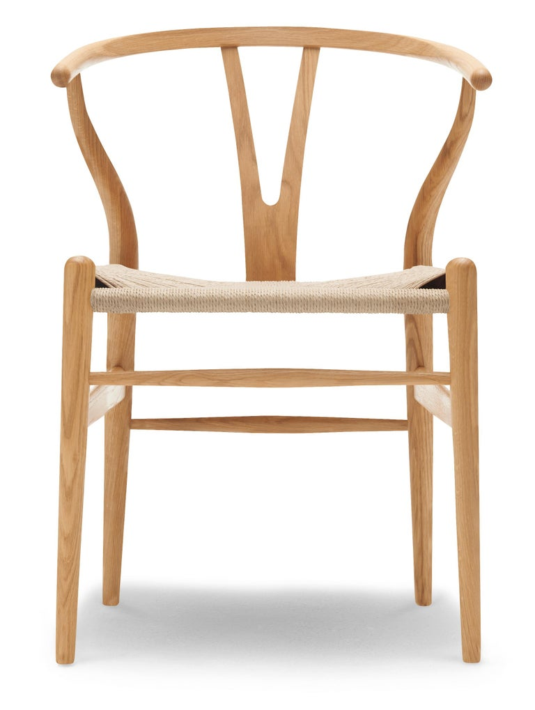 For Sale: Brown (Oak Oil) CH24 Wishbone Chair in Wood Finishes with Natural Papercord Seat by Hans Wegner