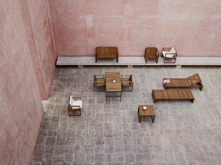 For Sale: Beige (Canvas 5453) BK11 Lounge Chair in Teak Oil with Cushions by Bodil Kjær 2
