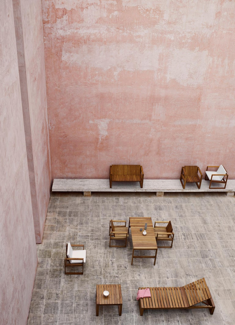 For Sale: Beige (Canvas 5453) BK11 Lounge Chair in Teak Oil with Cushions by Bodil Kjær 3