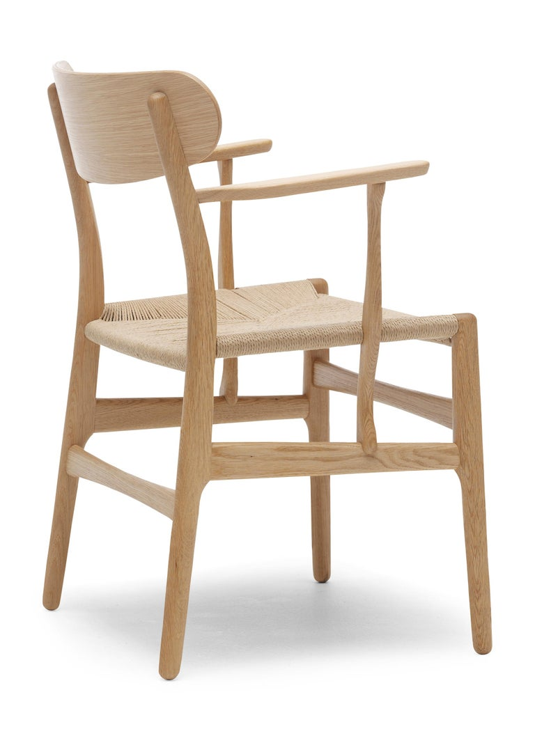 For Sale: Brown (Oak Oil) CH26 Dining Chair in Wood Finishes with Natural Papercord Seat by Hans J. Wegner 3