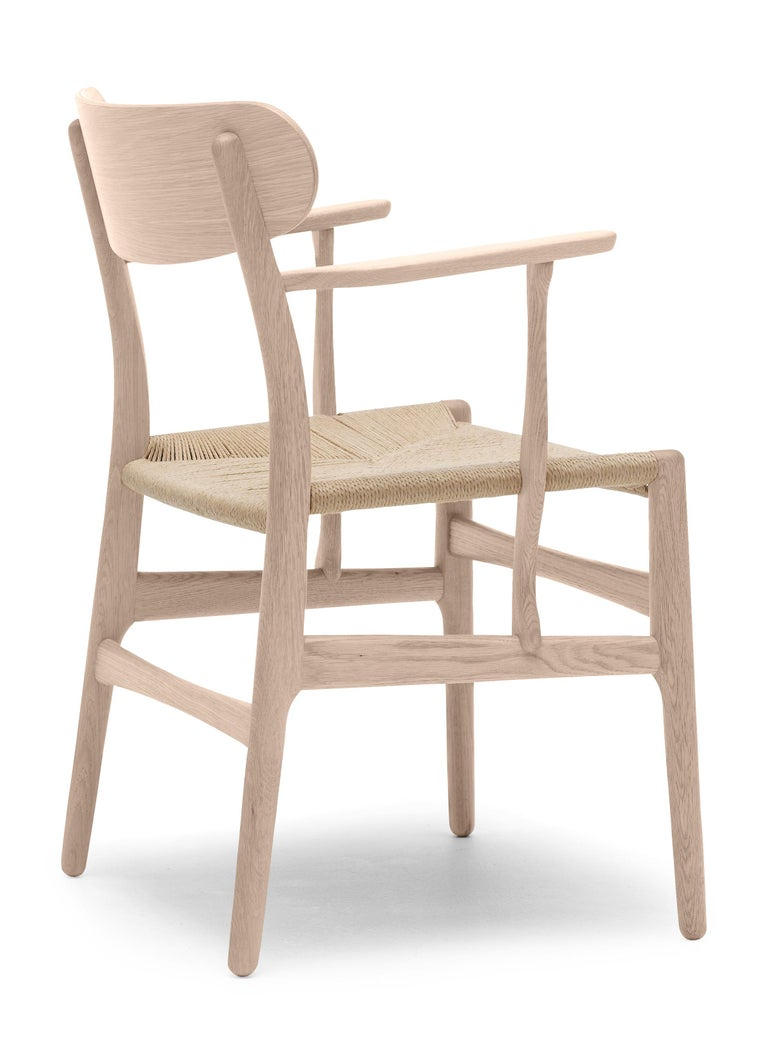 For Sale: Brown (Oak Soap) CH26 Dining Chair in Wood Finishes with Natural Papercord Seat by Hans J. Wegner 3