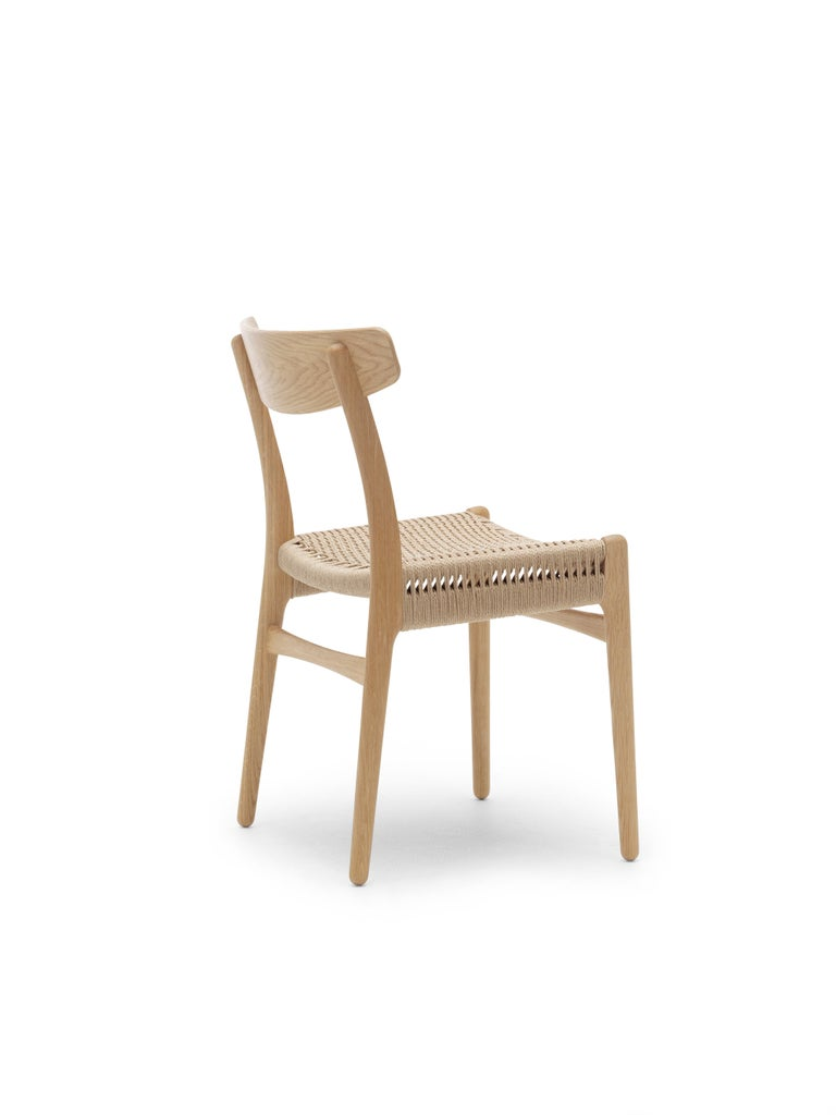 For Sale: Brown (Oak Oil) CH23 Dining Chair in Wood Finishes with Natural Papercord Seat by Hans J. Wegner 4