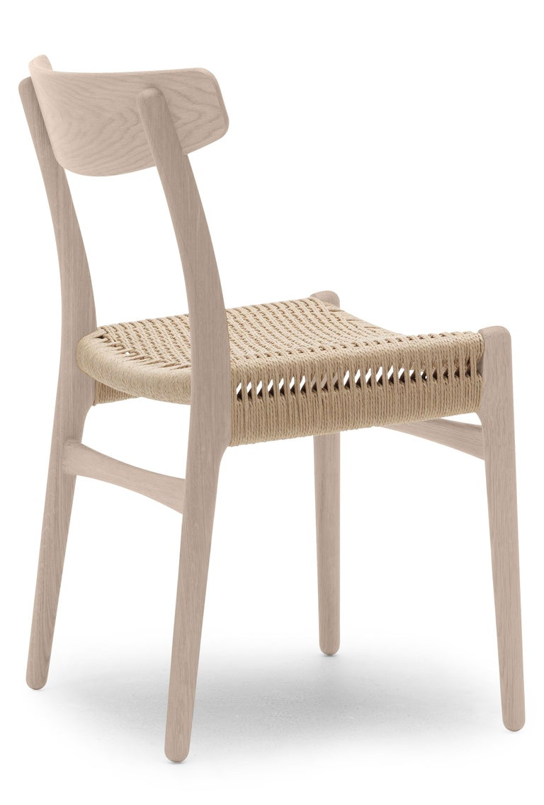 For Sale: Brown (Oak Soap) CH23 Dining Chair in Wood Finishes with Natural Papercord Seat by Hans J. Wegner 2