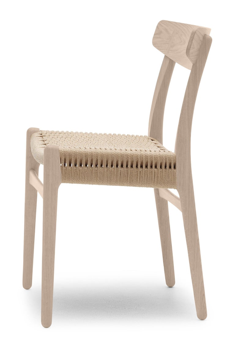 For Sale: Brown (Oak Soap) CH23 Dining Chair in Wood Finishes with Natural Papercord Seat by Hans J. Wegner 3