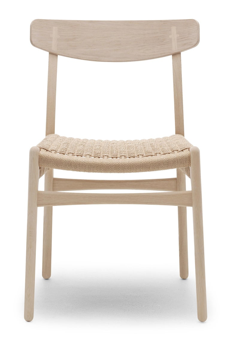 For Sale: Brown (Oak Soap) CH23 Dining Chair in Wood Finishes with Natural Papercord Seat by Hans J. Wegner