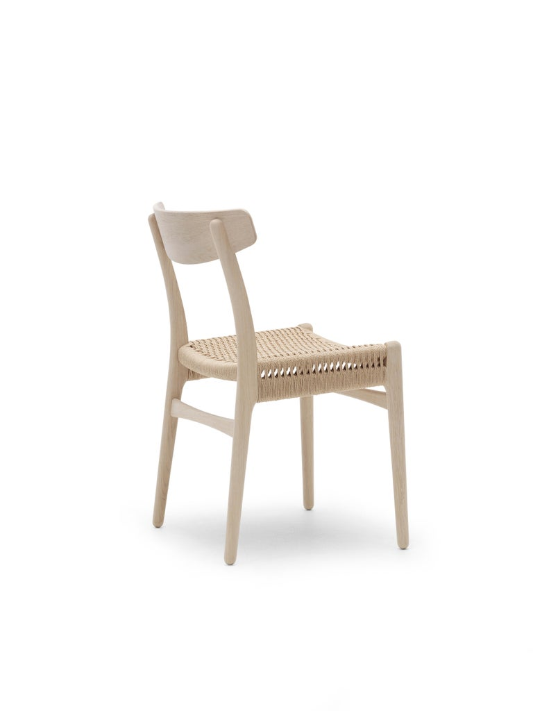 For Sale: Brown (Oak Soap) CH23 Dining Chair in Wood Finishes with Natural Papercord Seat by Hans J. Wegner 4