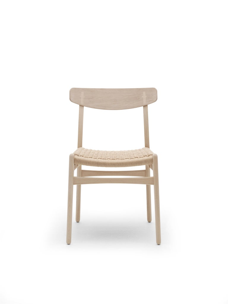 For Sale: Brown (Oak Soap) CH23 Dining Chair in Wood Finishes with Natural Papercord Seat by Hans J. Wegner 5