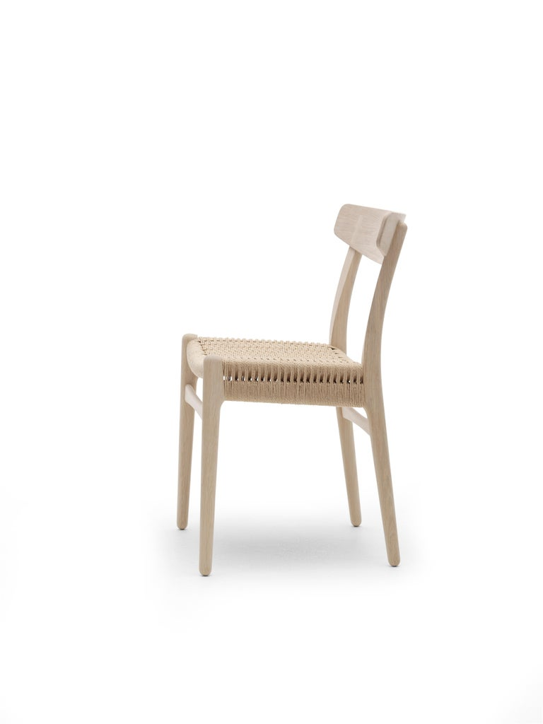 For Sale: Brown (Oak Soap) CH23 Dining Chair in Wood Finishes with Natural Papercord Seat by Hans J. Wegner 6