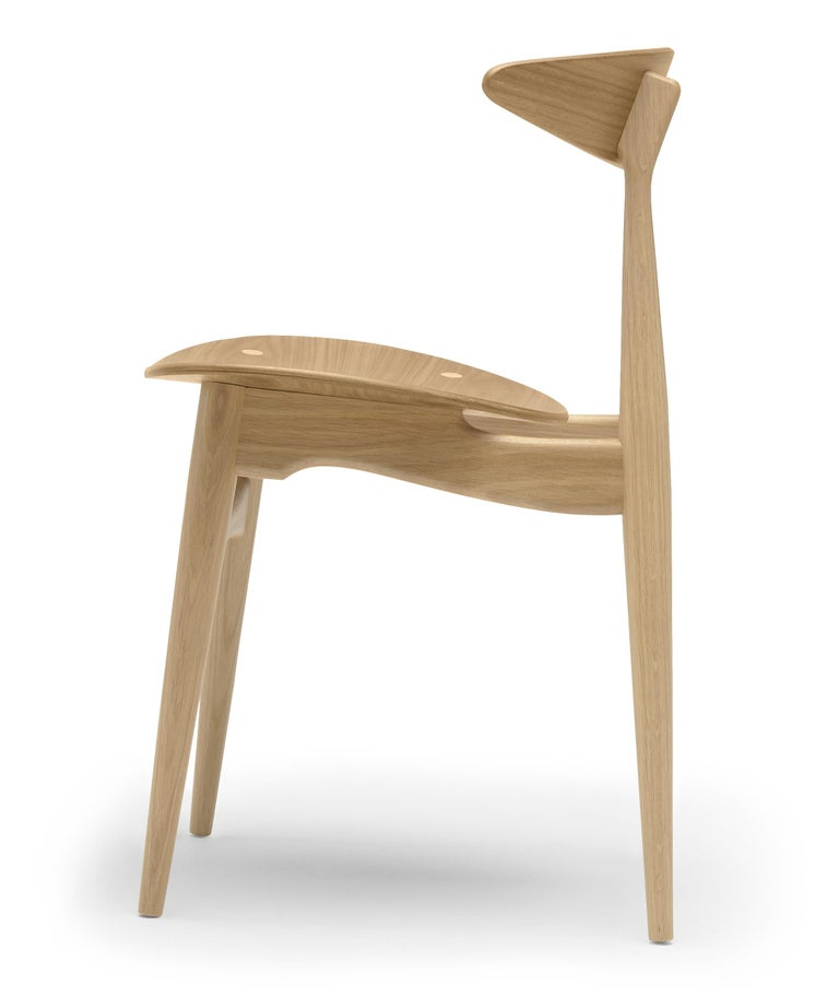 For Sale: Brown (Oak Lacquer) CH33T Dining Chair in Wood by Hans J. Wegner 3