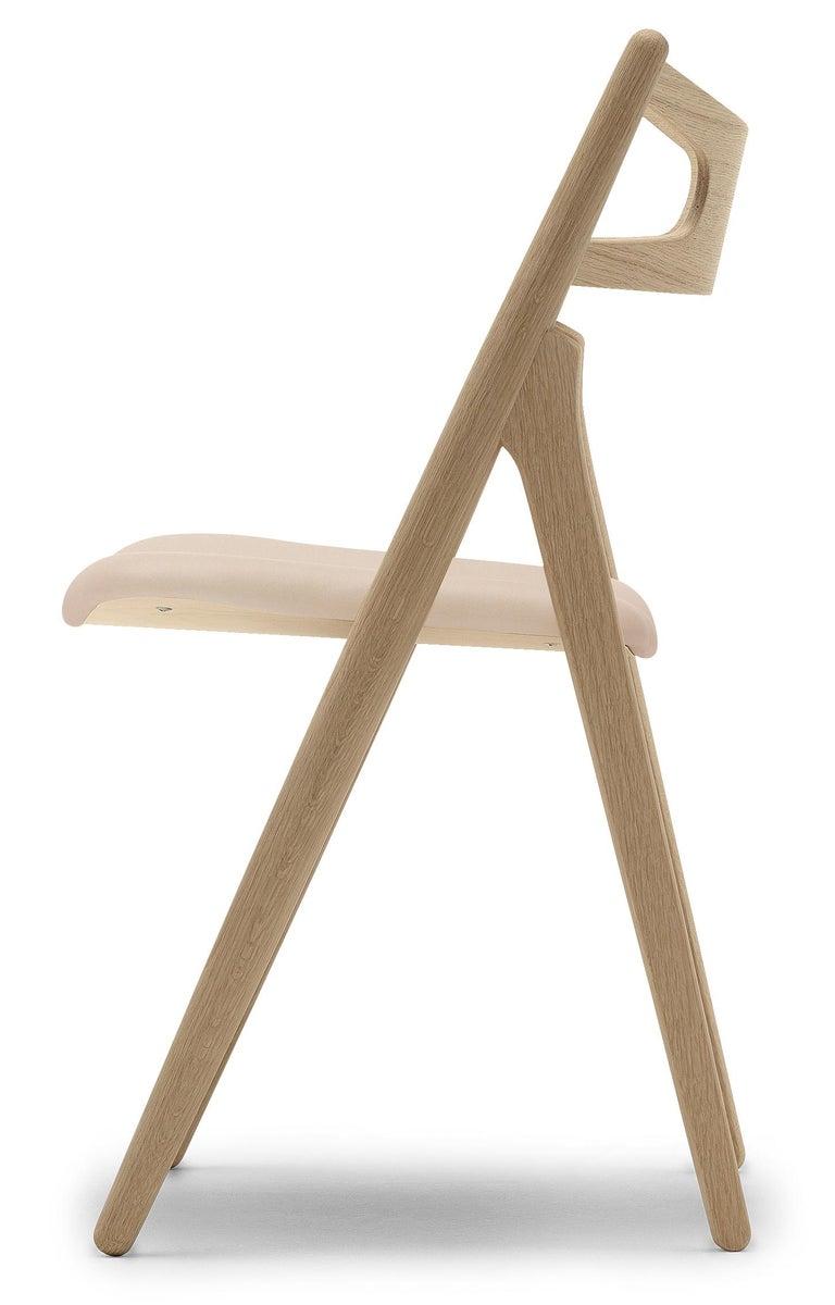 For Sale: Beige (Sif 90) CH29P Sawbuck Chair in Oak Soap by Hans J. Wegner 2