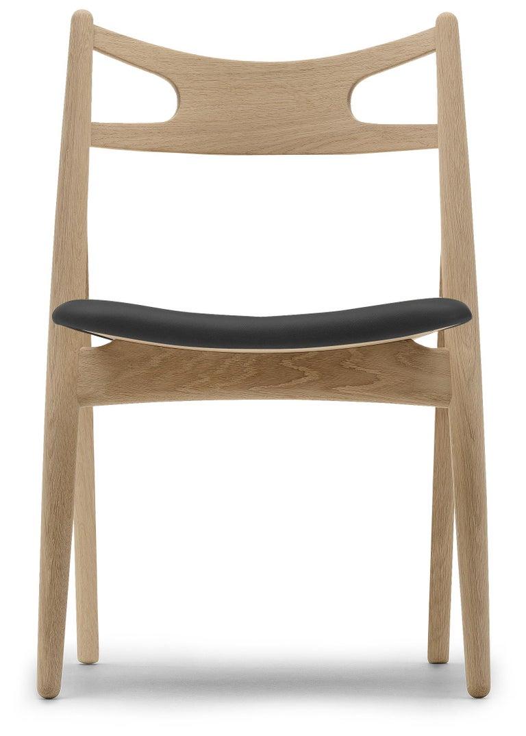 For Sale: Black (Thor 301) CH29P Sawbuck Chair in Oak Soap by Hans J. Wegner
