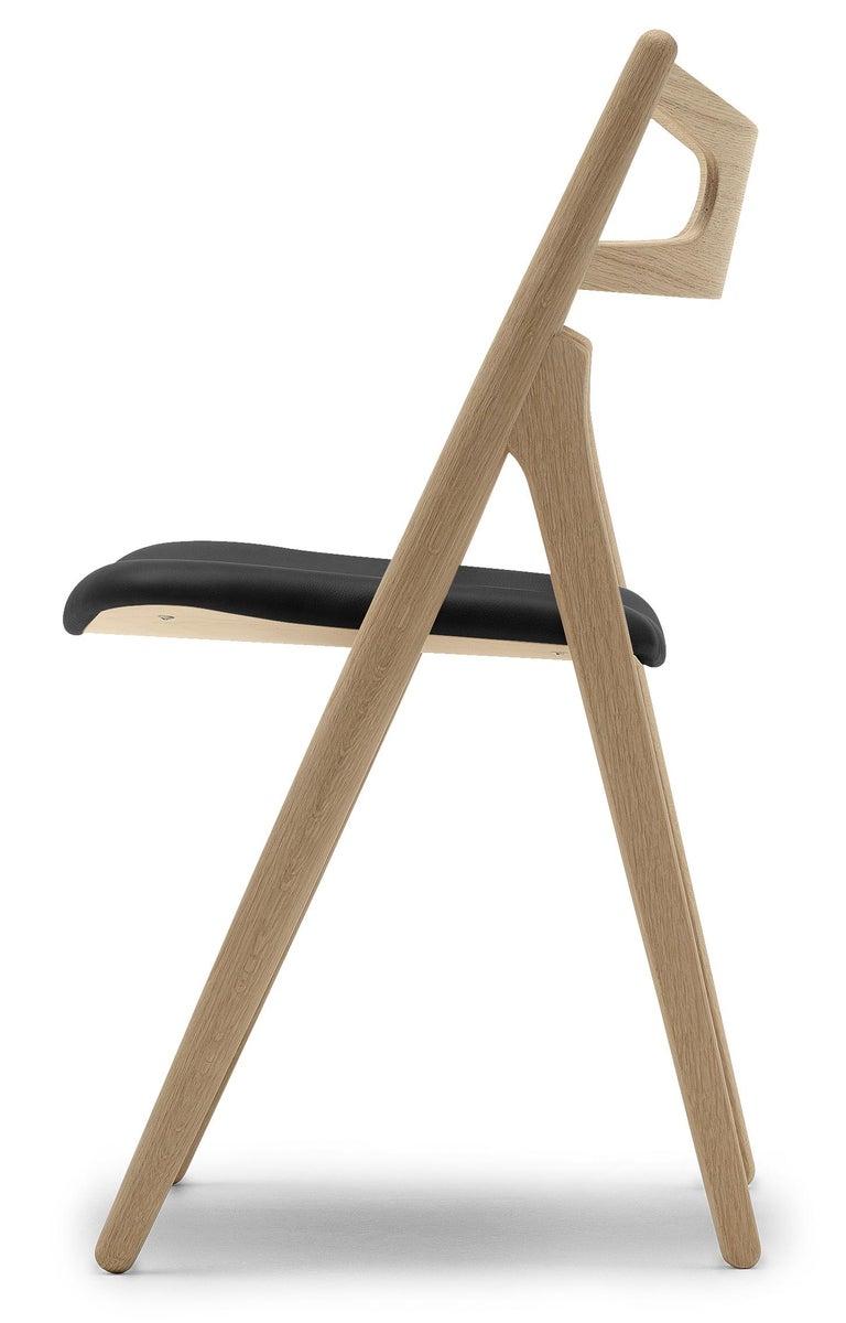 For Sale: Black (Thor 301) CH29P Sawbuck Chair in Oak Soap by Hans J. Wegner 2