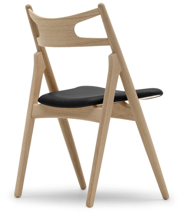 For Sale: Black (Thor 301) CH29P Sawbuck Chair in Oak Soap by Hans J. Wegner 3