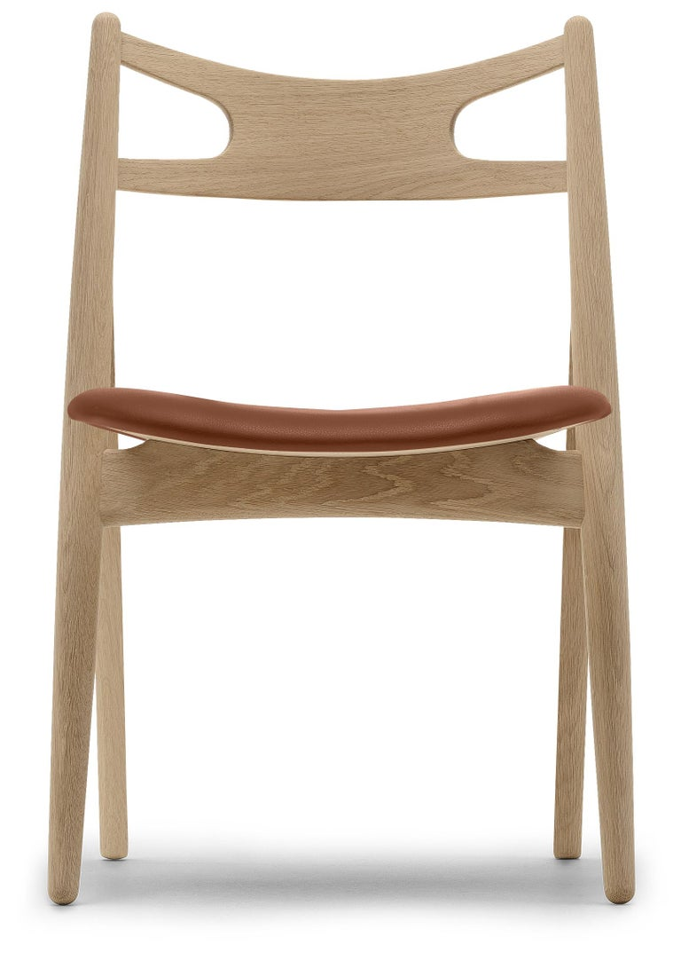 For Sale: Brown (Thor 307) CH29P Sawbuck Chair in Oak Soap by Hans J. Wegner