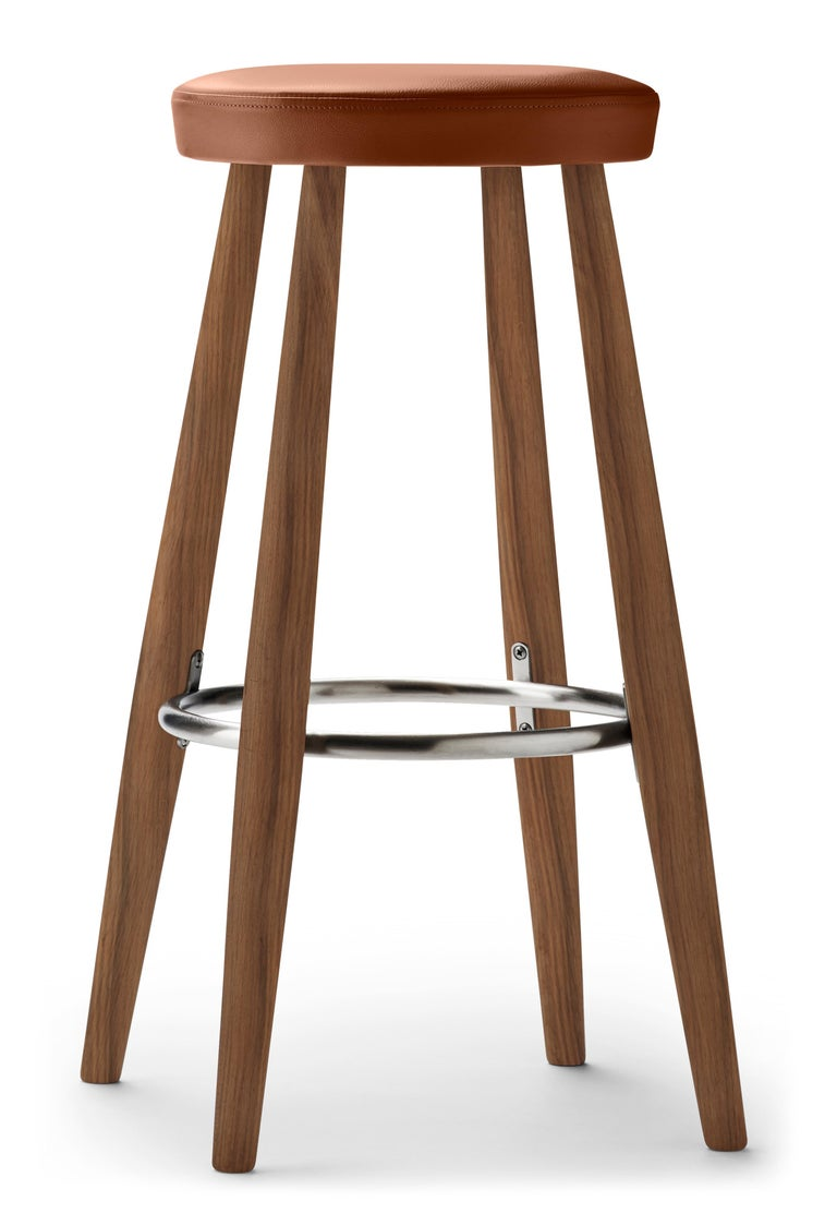 For Sale: Brown (Thor 307) CH56 Barstool in Walnut Oil by Hans J. Wegner