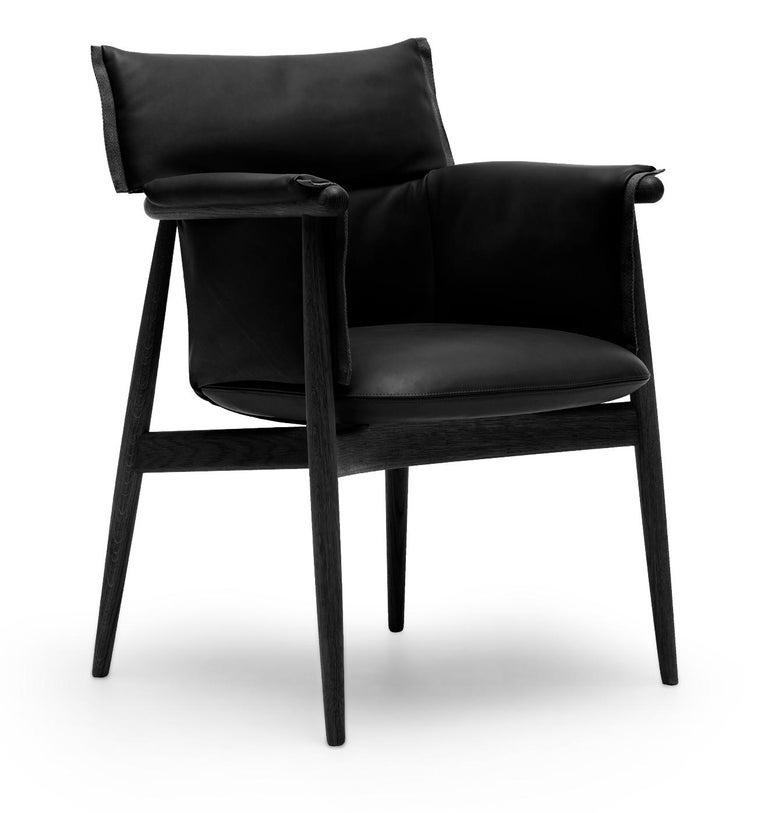 For Sale: Black (Thor 301) E005 Embrace Dining Chair in Oak Painted Black with Black Edging Strip by EOOS 2