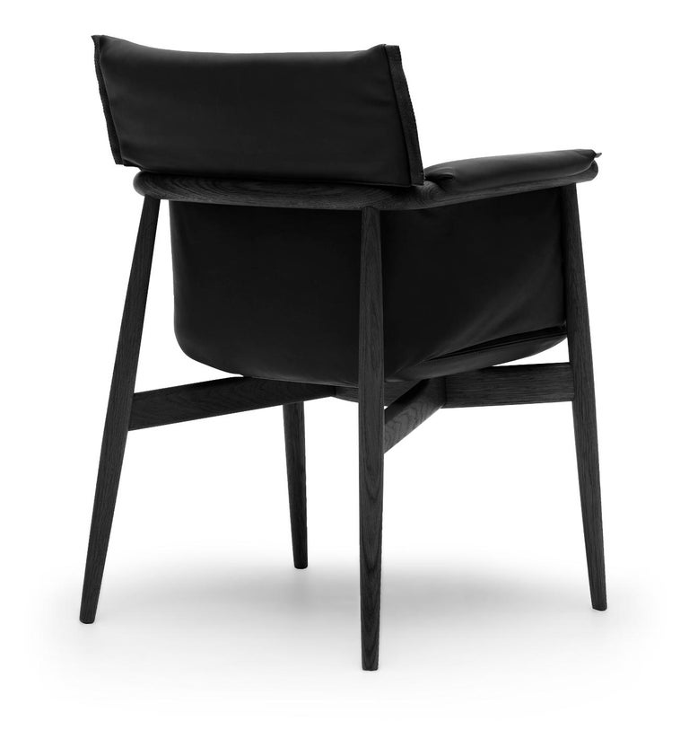 For Sale: Black (Thor 301) E005 Embrace Dining Chair in Oak Painted Black with Black Edging Strip by EOOS 3