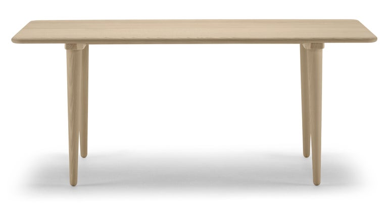 For Sale: Brown (Oak Soap) CH011 Coffee Table in Wood by Hans J. Wegner 2