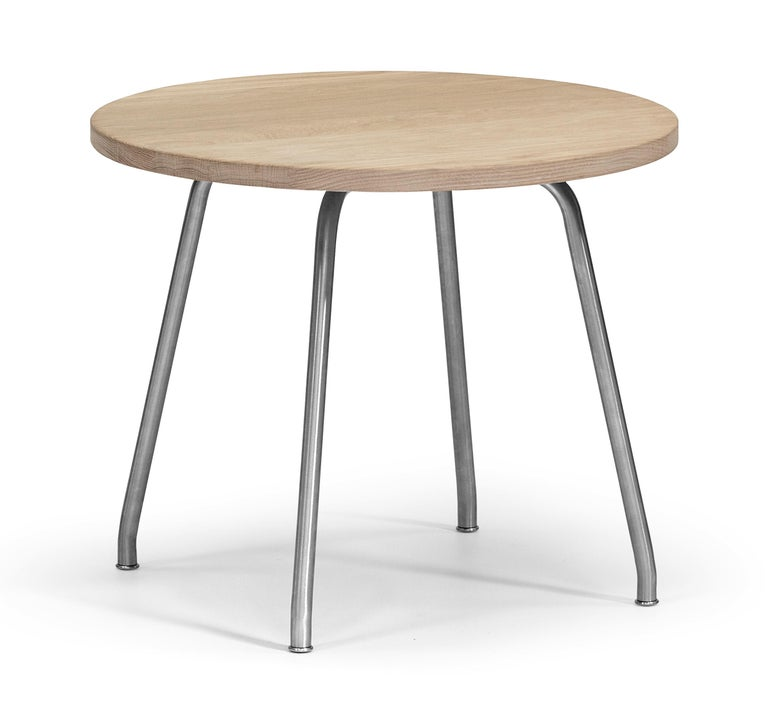 For Sale: Brown (Oak Soap) CH415 Coffee Table in Wood and Stainless Steel by Hans J. Wegner