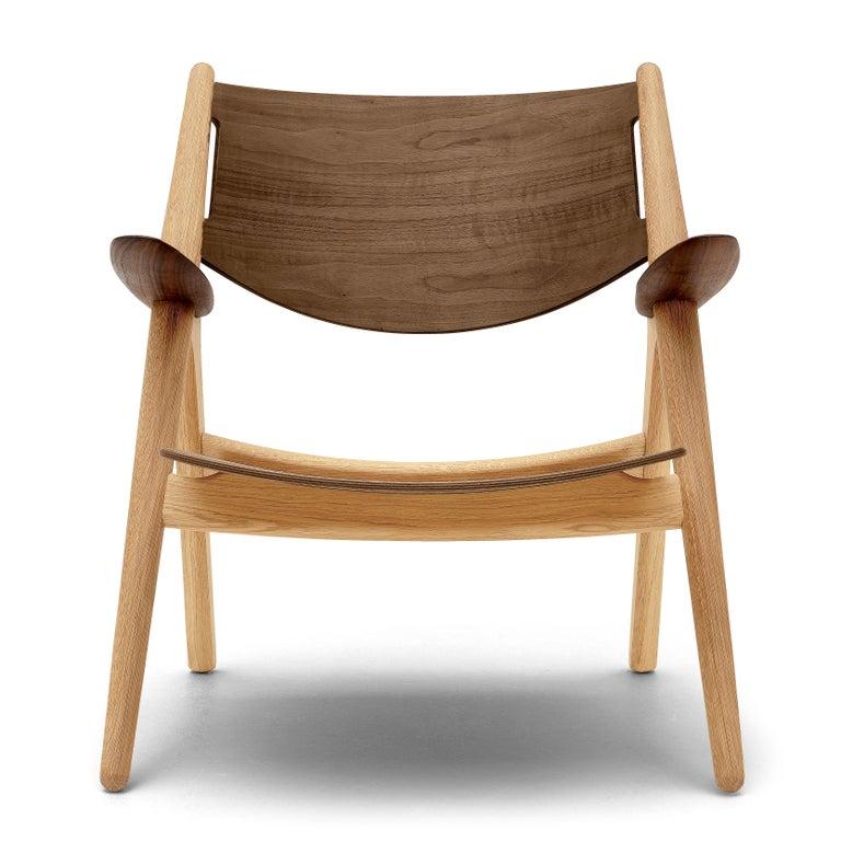 For Sale: Brown (Oak/Walnut) CH28T Lounge Chair in Wood Finish by Hans J. Wegner