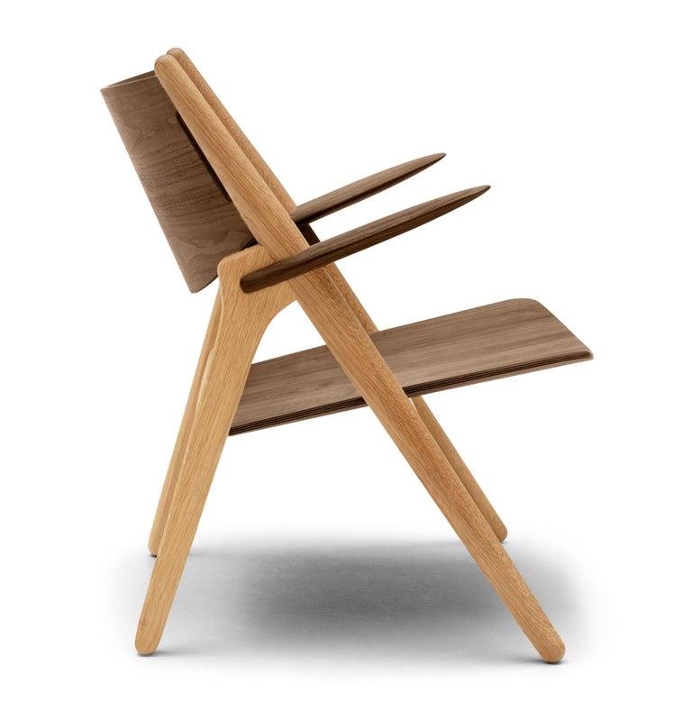 For Sale: Brown (Oak/Walnut) CH28T Lounge Chair in Wood Finish by Hans J. Wegner 2