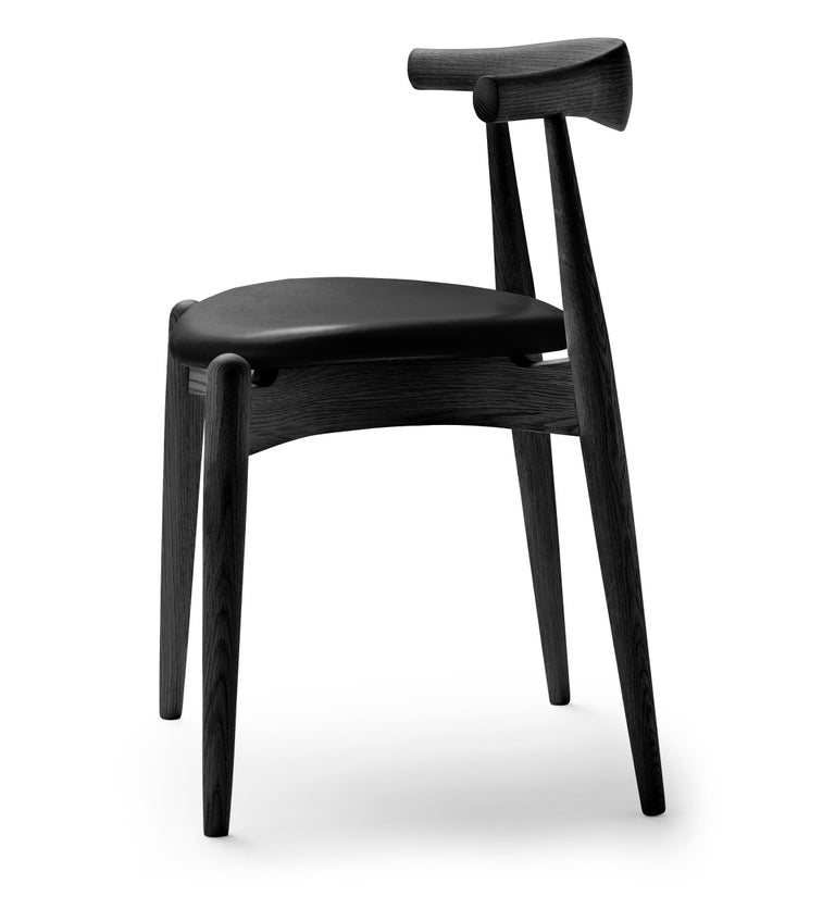 For Sale: Black (Thor 301) CH20 Elbow Chair in Oak Painted Black by Hans J. Wegner 2