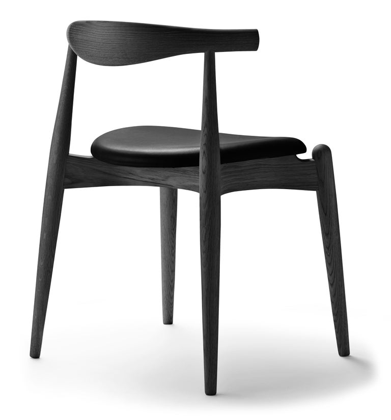 For Sale: Black (Thor 301) CH20 Elbow Chair in Oak Painted Black by Hans J. Wegner 3