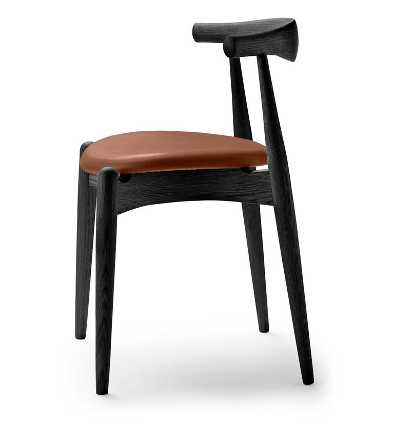For Sale: Brown (Thor 307) CH20 Elbow Chair in Oak Painted Black by Hans J. Wegner 2