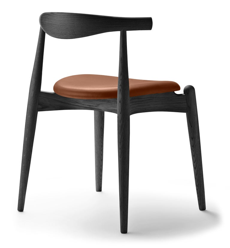 For Sale: Brown (Thor 307) CH20 Elbow Chair in Oak Painted Black by Hans J. Wegner 3