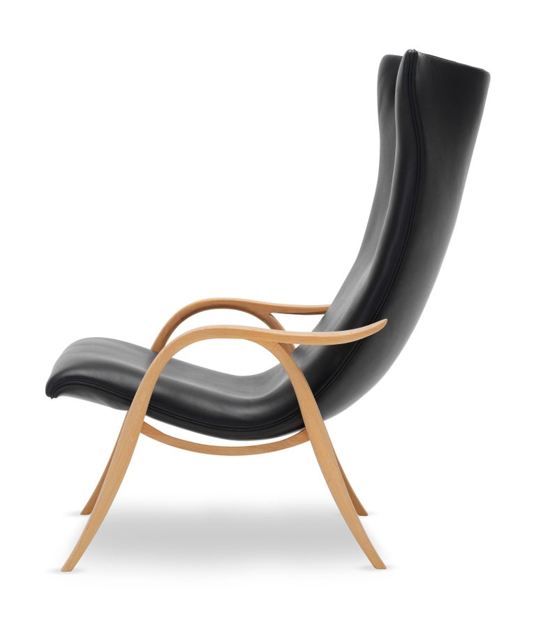 For Sale: Black (Sif 98) FH429 Signature Chair in Oiled Oak by Frits Henningsen 2