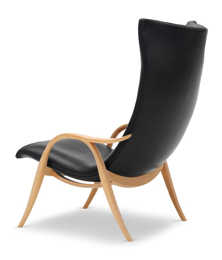 For Sale: Black (Sif 98) FH429 Signature Chair in Oiled Oak by Frits Henningsen 3