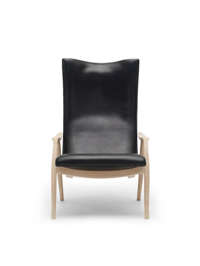 For Sale: Black (Sif 98) FH429 Signature Chair in Oiled Oak by Frits Henningsen 4