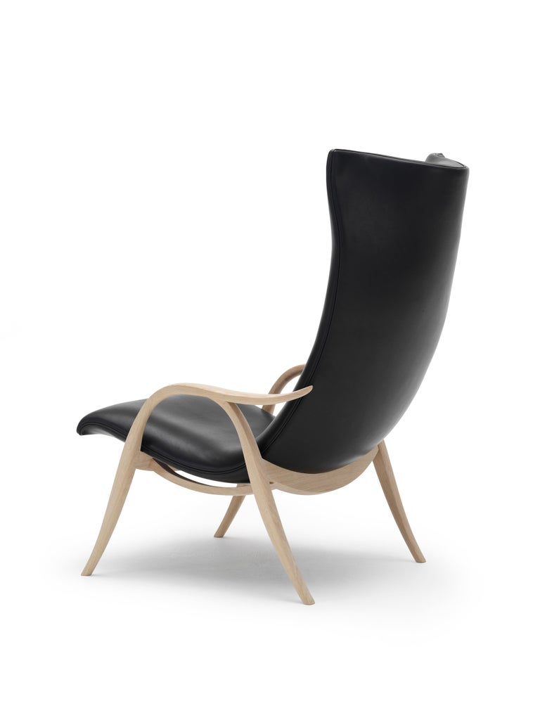For Sale: Black (Sif 98) FH429 Signature Chair in Oiled Oak by Frits Henningsen 5