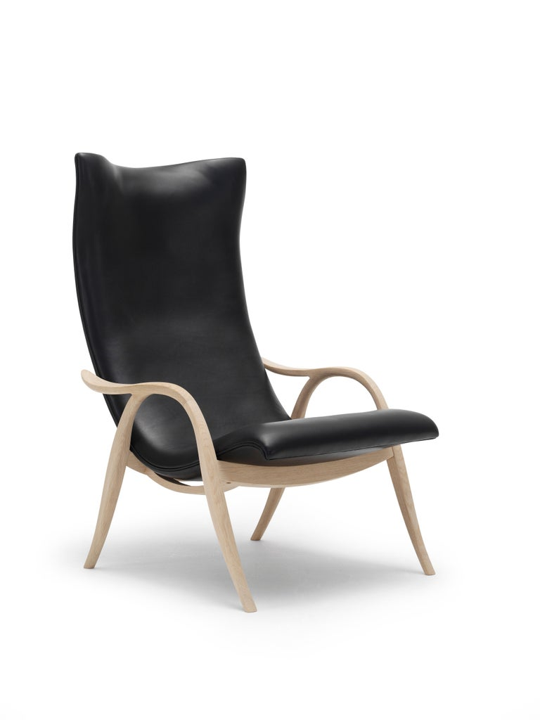 For Sale: Black (Sif 98) FH429 Signature Chair in Oiled Oak by Frits Henningsen 6