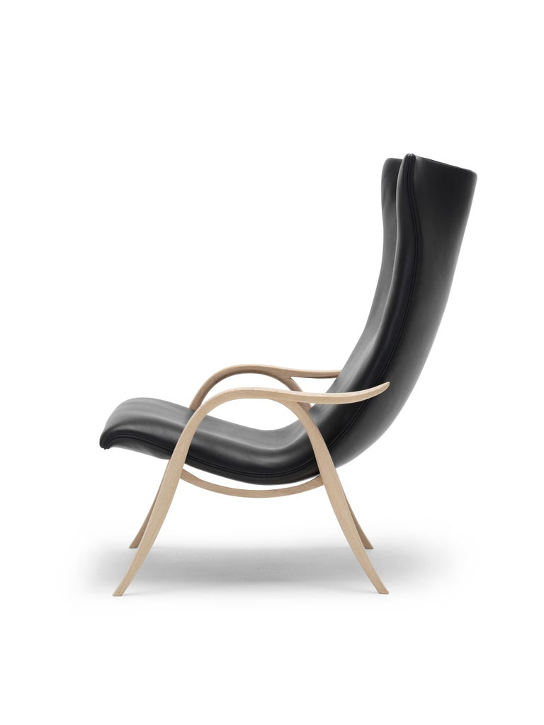 For Sale: Black (Sif 98) FH429 Signature Chair in Oiled Oak by Frits Henningsen 7