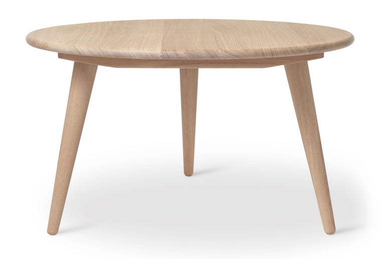 For Sale: Beige (Oak White Oil) CH008 Small Coffee Table in Wood by Hans J. Wegner 2