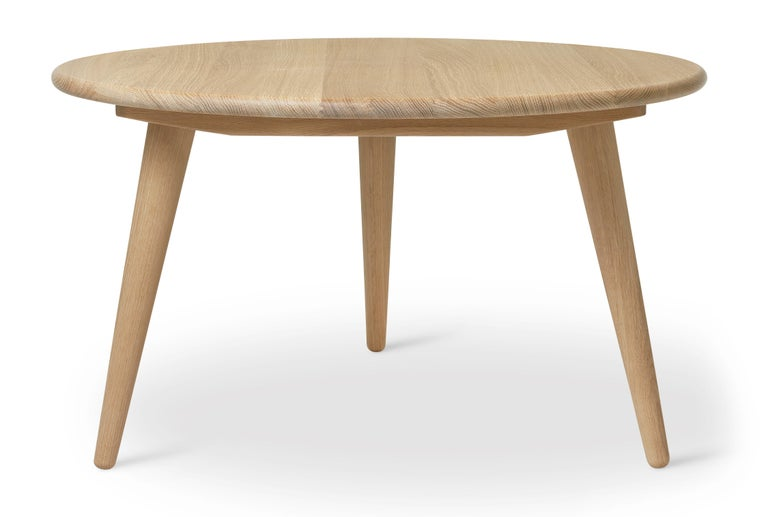 For Sale: Brown (Oak Soap) CH008 Small Coffee Table in Wood by Hans J. Wegner 2