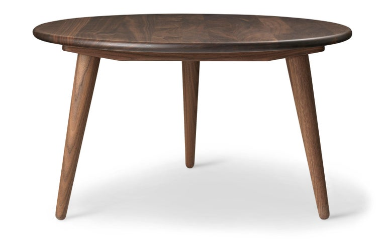 For Sale: Brown (Walnut Oil) CH008 Small Coffee Table in Wood by Hans J. Wegner 2