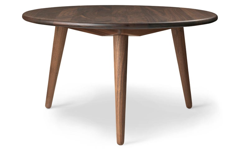 For Sale: Brown (Walnut Oil) CH008 Small Coffee Table in Wood by Hans J. Wegner