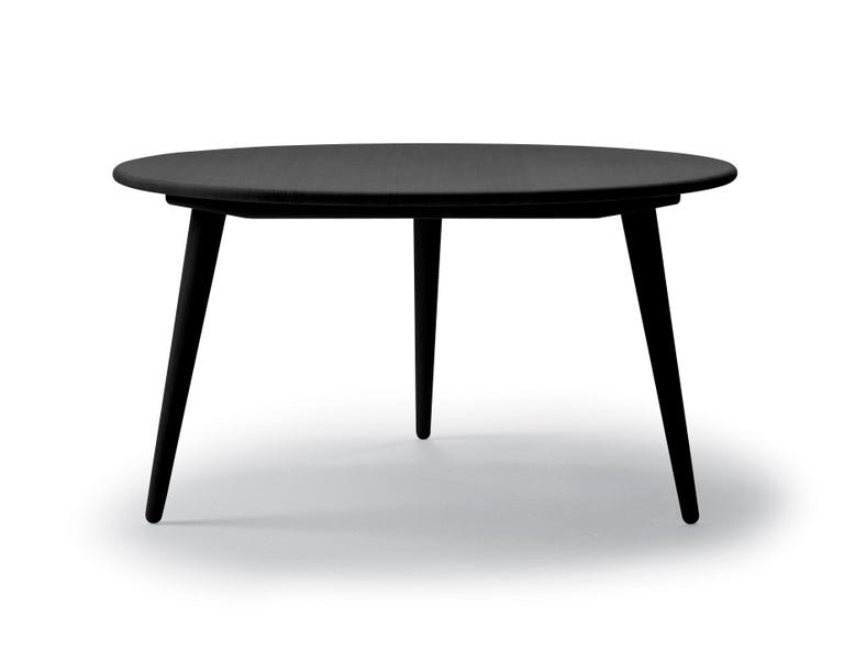 For Sale: Black (Oak Painted blacks9000-N) CH008 Small Coffee Table in Wood by Hans J. Wegner